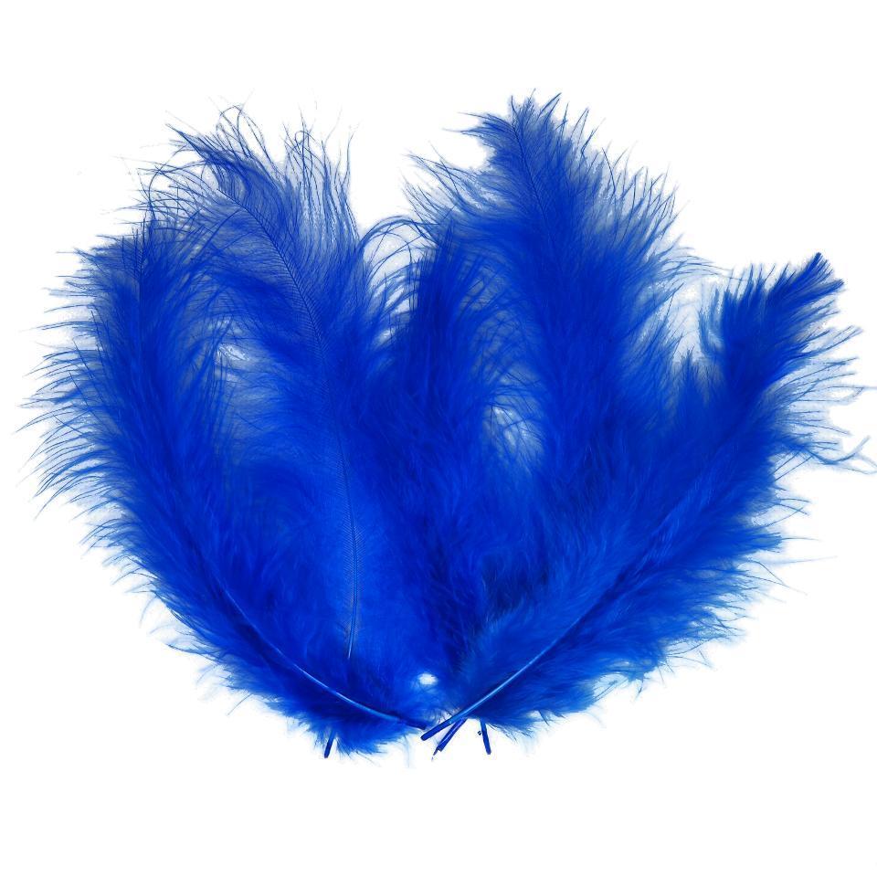 Декоративные перья SoFun 5-10 см синие 100 шт