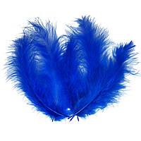 Декоративные перья синие (100 шт), фото 1