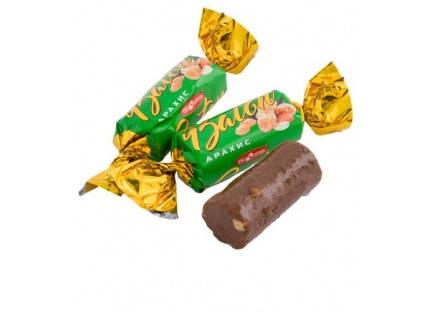 Батончик неглазированный  с жаренным арахисом Букурия, фото 2