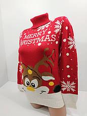 Шерстяні жіночі светри новорічні оптом та в роздріб S 2044, фото 3