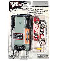 Игровой набор TECH DECK Фингерборд 96 мм. + фигураDGK ORIGINAL (2 мини скейт, отвертка, трамплин-кейс ) серый кейс