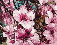 """Картина за номерами """"Цвітіння сакури"""" 40*50см"""