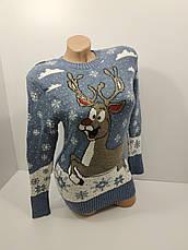 Шерстяні жіночі светри новорічні оптом та в роздріб G 4115, фото 3
