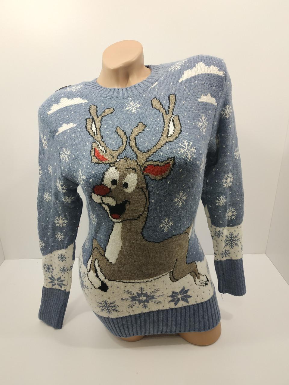 Шерстяні жіночі светри новорічні оптом та в роздріб G 4115