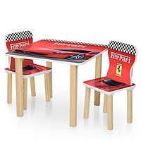 Детский столик деревянный и 2 стульчика Bambi 506-47 Ferrari