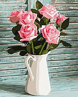 """Картина по номерам """"Розы в кувшине"""" 40*50см"""