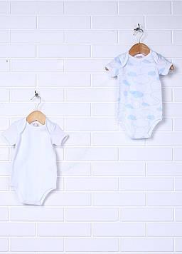 Боди Prenatal 6-9 months (68 см) белый, голубой (NN2660_Wblue)