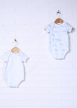 Боди Prenatal 0-1 months (50 см) белый, голубой (NN2660_Wblue)
