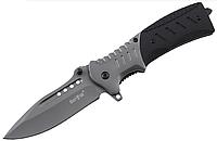 Нож складной, с шероховатыми накладками рукояти из композита G10,имеет специальный выступ-плавник на клике, фото 1