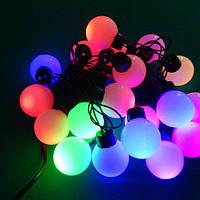 Светодиодная Новогодняя гирлянда нить цветные Шарики /40 Led, 6.5 м