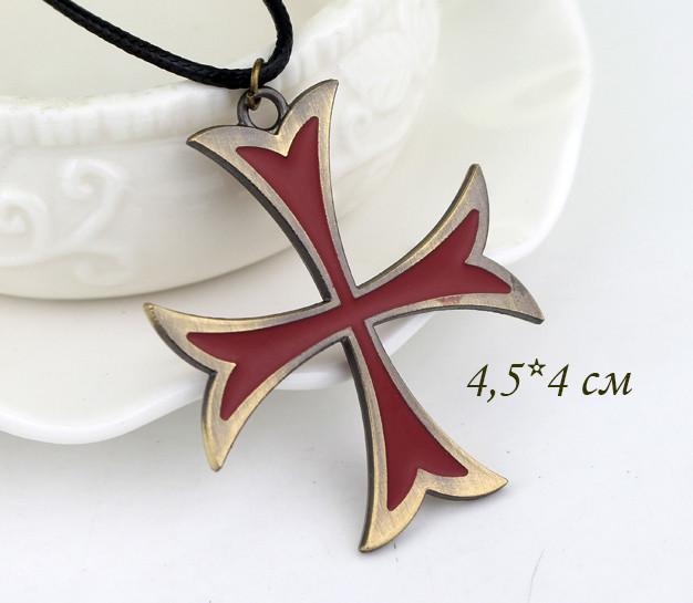 размеры кулона Крест Тамплиеров