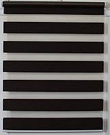 Готовые рулонные шторы 325*1300 Ткань ВН-16 Венге