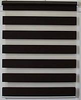 Готовые рулонные шторы 350*1300 Ткань ВН-16 Венге