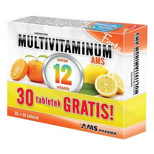 Multivitaminum AMS forte витамины 100% денвной нормы в 2 таблетках  90 таблеток на 45 дней