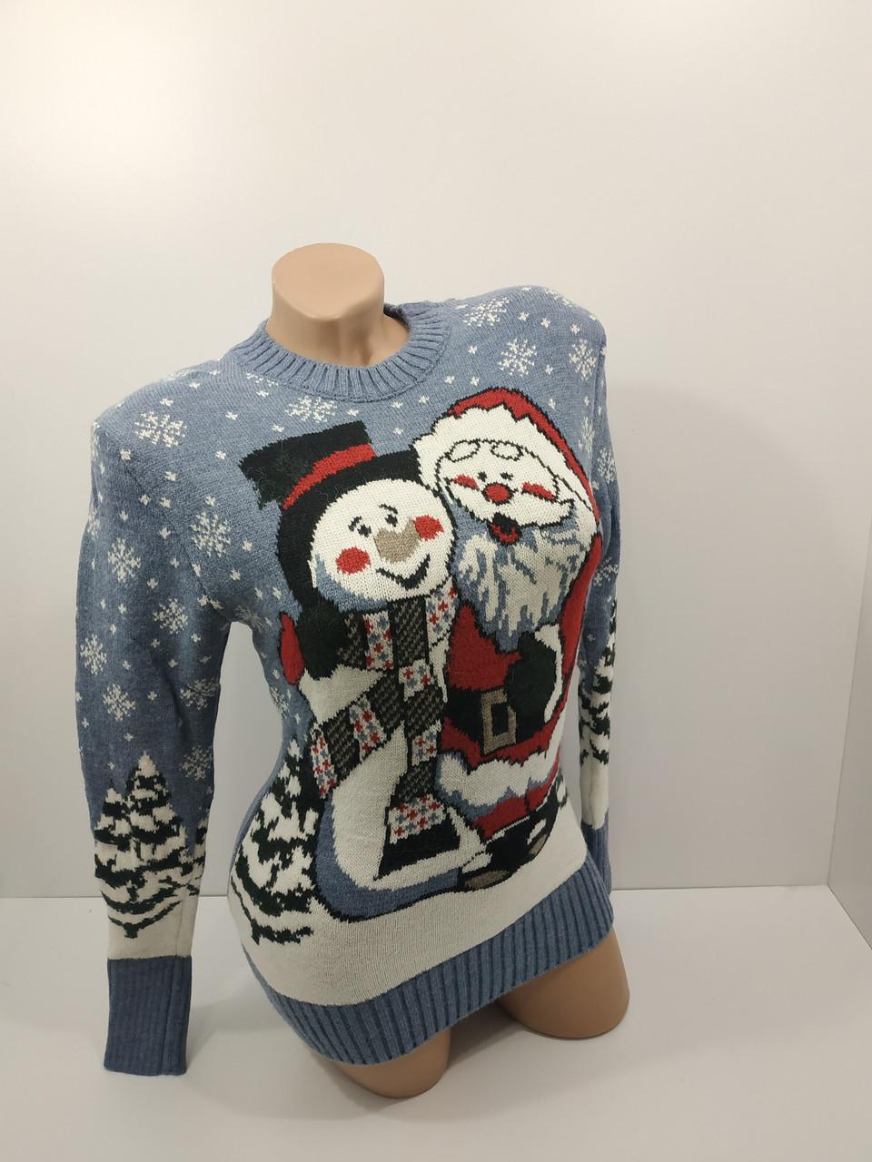 Шерстяні жіночі светри новорічні оптом та в роздріб G 4107
