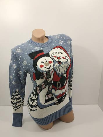 Шерстяні жіночі светри новорічні оптом та в роздріб G 4107, фото 2
