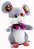 """Игрушка мягкая """"Мышка с бантиком пайетки"""" 16 см. TL026596"""