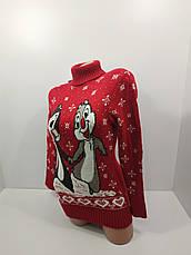 Шерстяні жіночі светри новорічні оптом та в роздріб G 4672, фото 3