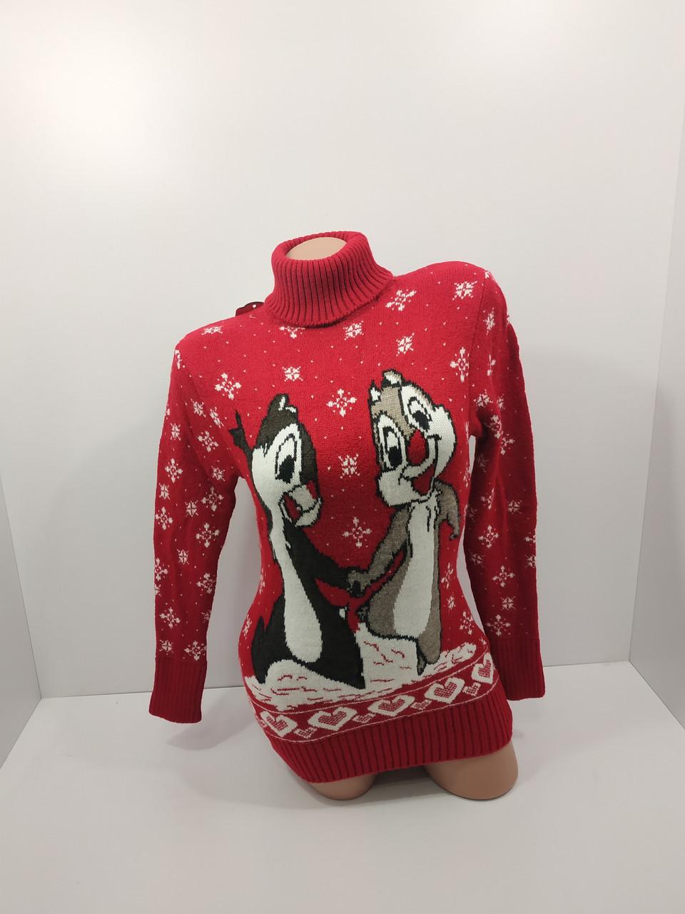 Шерстяні жіночі светри новорічні оптом та в роздріб G 4672