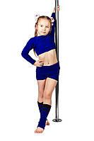 Комплект для разогрева детский Borodina Antonina синий(шортики+гетры+кофточка) (0984)