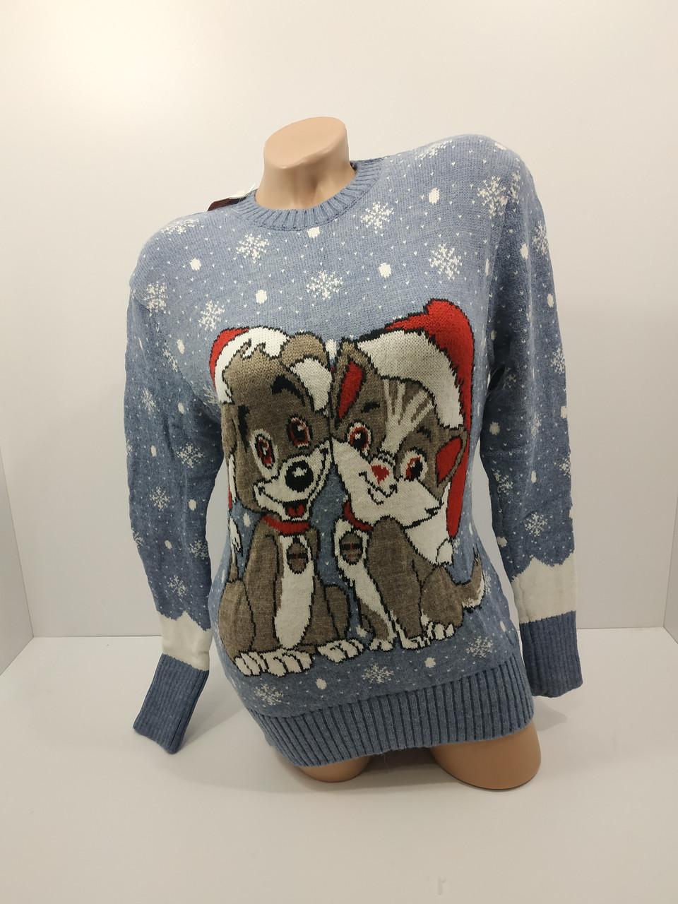 Шерстяні жіночі светри новорічні оптом та в роздріб G 4709