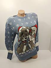Шерстяні жіночі светри новорічні оптом та в роздріб G 4709, фото 3