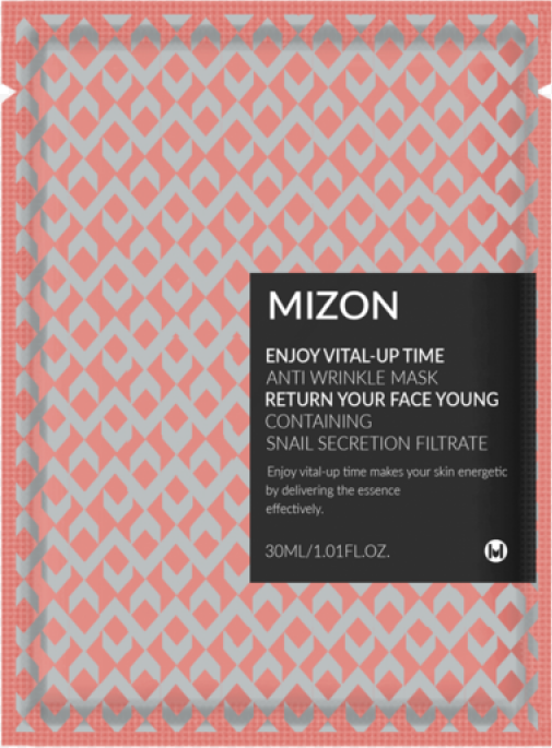 Тканевая маска для лица Mizon Enjoy Vital-Up Time Antiwrinkle Mask Return Your Face Young