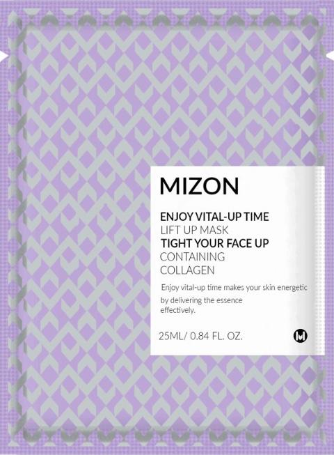 Подтягивающая маска для лица с коллагеном Mizon Enjoy Vital-Up Time Lift Up Mask Tight Your Face Up