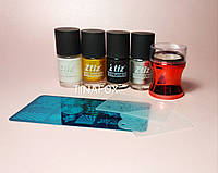 Набор для стемпинг дизайна ногтей