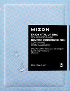Маска для обличчя з екстрактом авокадо Mizon Enjoy Vital-Up Time Nourishing Mask Nourish Your Rough Skin 25 мл
