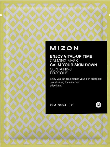 Тканевая маска для лица с успокаивающим эффектом Mizon Enjoy Vital-Up Time Calming Mask Calm Your Skin Down