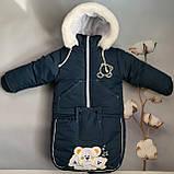 Комбинезон тройка (курточка, штаны и конверт). Для деток с рождения. 13 цветов., фото 5