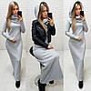 Платье женское теплое длинное в пол. Разные цвета