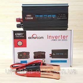 Перетворювач Інвертор 12в-220в UKC SSK 1200W