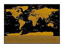 Скретч Карта мира Travel Map для путешественников 82.5 х 59.4 см