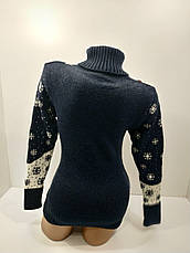 Шерстяні жіночі светри новорічні оптом та в роздріб G 4676, фото 3