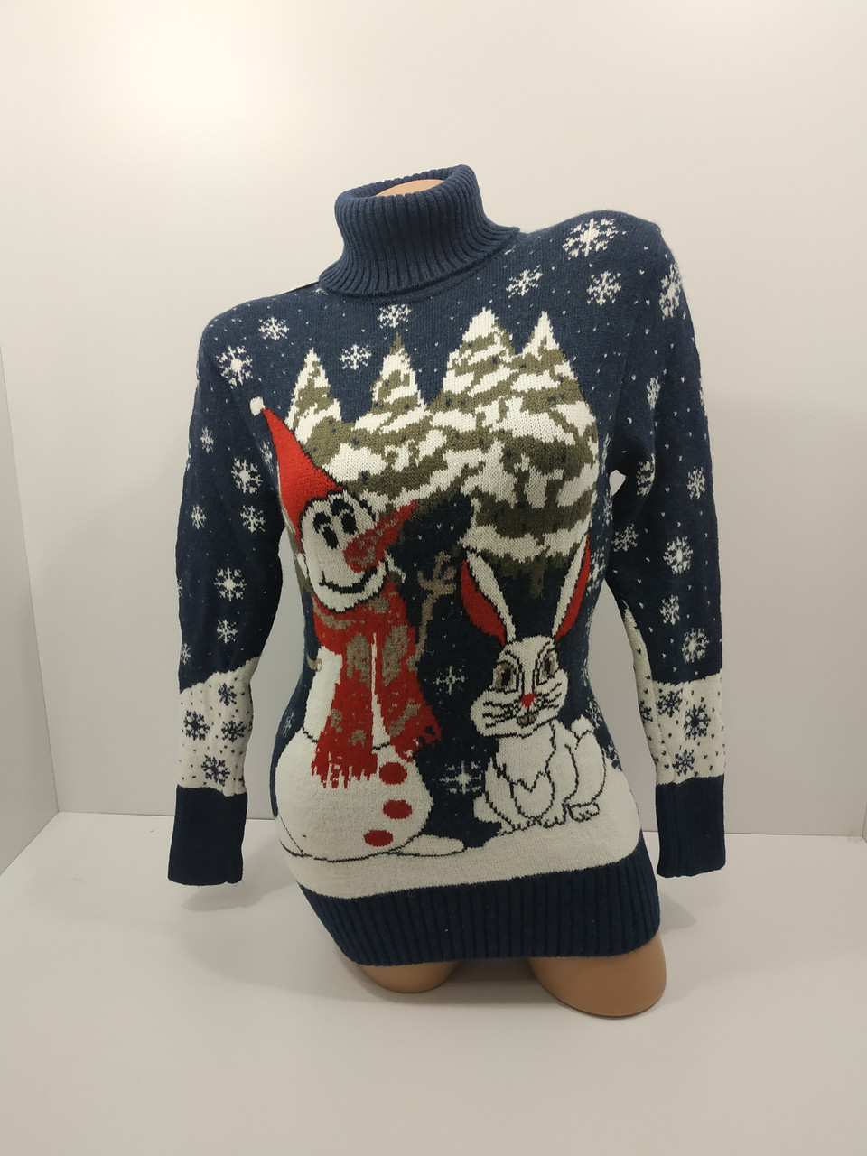 Шерстяні жіночі светри новорічні оптом та в роздріб G 4676
