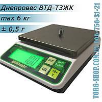 Весы простого взвешивания Днепровес ВТД-Т3ЖК (ВТД-6Т3ЖК)  высокой точности