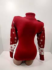 Шерстяні жіночі светри новорічні оптом та в роздріб G 4677, фото 3