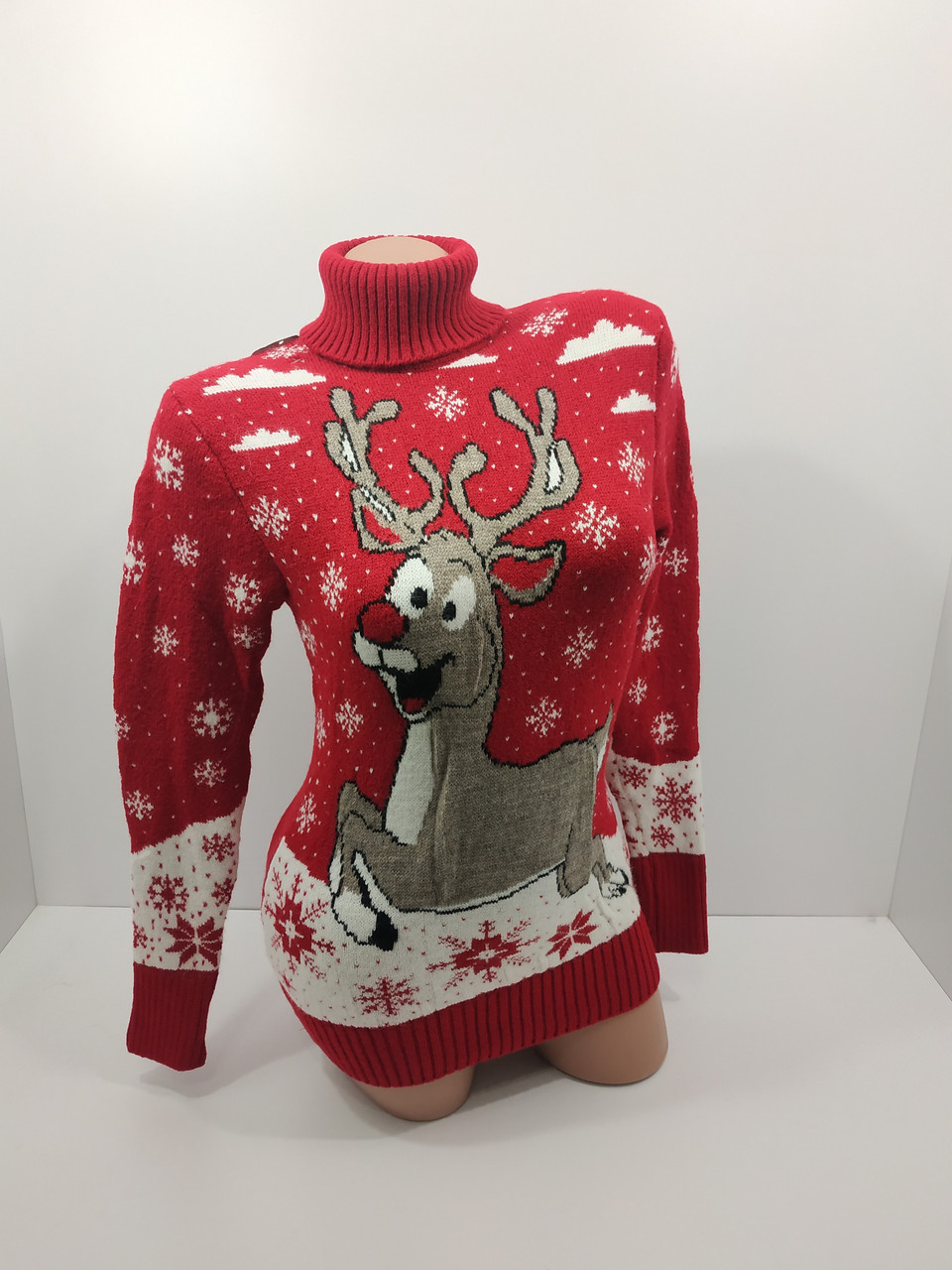 Шерстяні жіночі светри новорічні оптом та в роздріб G 4677