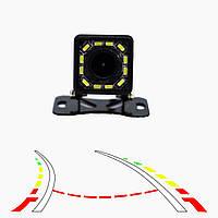 Камера заднего вида с подсветкой и динамической разметкой RIAS 103 Black (4_685672385), фото 1