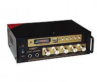 Усилитель звука UKC SN-222BT FM USB Bluetooth Караоке 60W+60W Black (4_859477131), фото 1