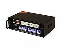 Усилитель звука UKC SN-838BT USB/SD/AUX Bluetooth Караоке 30W+30W Black (4_646343988), фото 1