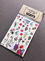Наклейки слайдеры на водной основе для дизайна ногтей Perfect Nail Art, 128