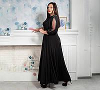 Элегантное платье в пол размер 50,52,54,56,58,60,62 черное, фото 1