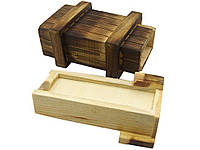 Деревянная коробка головоломка с потайными ящиками Vintage 10,7 см х5,5 см х3,5 см 10,7 см х5,5 см х3,5 см
