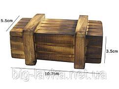 Дерев'яна коробка головоломка з потайними ящиками Vintage 10,7 см х 5,5 см х 3,5 см