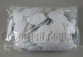 Фетровые заготовки-круги белые 0,5мм/4 см 1000 шт