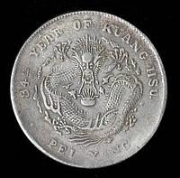 "КОПИЯ Монета Китая 1 доллар 1908 г. ""34-й год Гуан-сюй"""