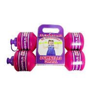 """Гантели-бутылочки """"Для девочки"""", 2 штуки (0,75 кг) 5256Д"""